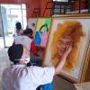 Seniman Lukis Solo Galang Dana Lewat Lukisan Wajah Gibran