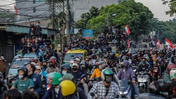 Aksi Mahasiswa Long March di Tangerang