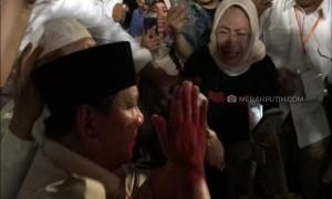 Sujud Syukur, Prabowo: Saya Akan Jadi Presiden Seluruh Rakyat Indonesia