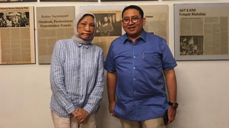 Fadli Zon dan Ratna Sarumpaet