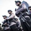 Ribuan Aparat Gabungan Jaga Demo BEM SI di Kawasan Monas