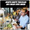 [HOAKS atau FAKTA]: Anies Sibuk Makan Warteg Saat Jakarta Tenggelam Banjir