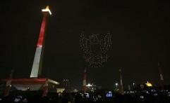 Mengenal Drone Canggih yang Beraksi Bak Kembang Api Berbagai Bentuk di Countdown Asian Games