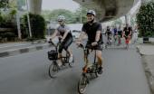Keseruan Komunitas Brompton BOAS dan BROMBE Gowes Bareng ke Cafe JTTS di Kemang