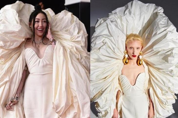 Noah Cyrus terlihat seperti malaikat dengan pakaian dari Schiaparelli Couture. (Foto: Instagram/@runwaytoredcarpetee)