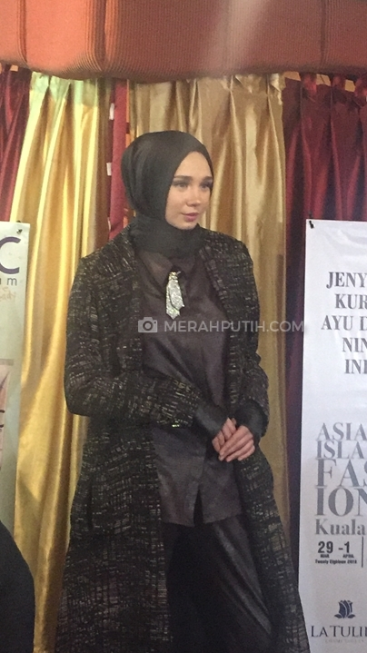 Salah satu model di acara Press Confrence Indonesian Modest Fashion Designers (MP/Raden Yusuf)