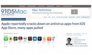 Apple Menghapus Antivirus dari iOS App Store