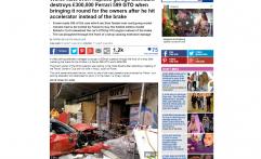 Salah Injak Pedal, Ferrari Rp5,7 Miliar Ringsek