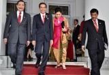 Suasana Pelepasan Dilegasi KAA oleh Presiden Jokowi