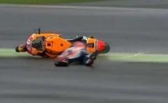 Ambisi Lawan Rossi, Marquez Tersungkur di GP Silverstone
