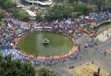 Aksi Unjuk Rasa Buruh di Sejumlah Daerah