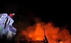 Markas Polda Jawa Tengah Kebakaran