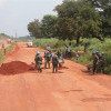 Prajurit TNI Perbaiki Jalan Sepanjang 1500 Meter di Afrika Tengah