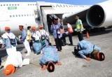 Kedatangan Para Jemaah Haji Indonesia ke Tanah Air