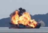 Peledakan Kapal Asing di Batam