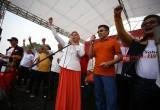 Kampanye Akbar Pilkada Kota Tangsel Pasangan Arsid-Elvier