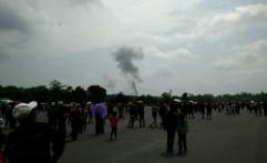 Pesawat TNI AU Jatuh Saat Air Show di Yogyakarta