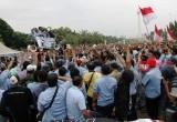 Suasana Demo Persatuan Pengemudi Angkutan Darat