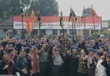 Presiden Jokowi di Markas Komando Brimob