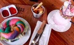 Rainbow Bagel, Makanan Kekinian Ala Kafe Happiness Kitchen And Coffee