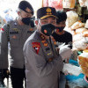 Kapolda Metro Sidak Penggunaan Masker Para Pedagang di Pasar Senen
