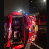 Bus Terguling di Tol Dalam Kota, Sejumlah Penumpang Terluka