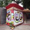 Sejumlah Seniman Mural Warnai Kios UMKM Binaan Jakpreneur