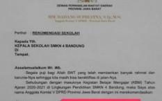 Beredar 'Surat Sakti' Anggota DPRD Jabar Minta Siswa Diterima di SMKN 4 Bandung
