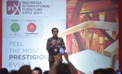Presiden Jokowi Buka Pameran Furniture International Indonesia 2017
