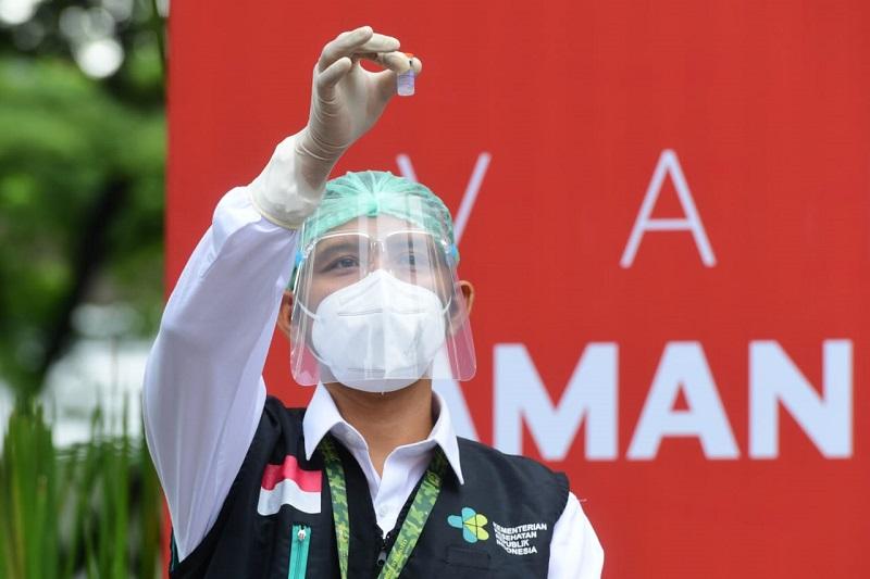 Vaksinasi. (Foto: Sekretariat Presiden)