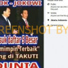 [HOAKS atau FAKTA]: Jokowi dan Ahok Masuk Daftar 5 Besar Pemimpin Terbaik Dunia