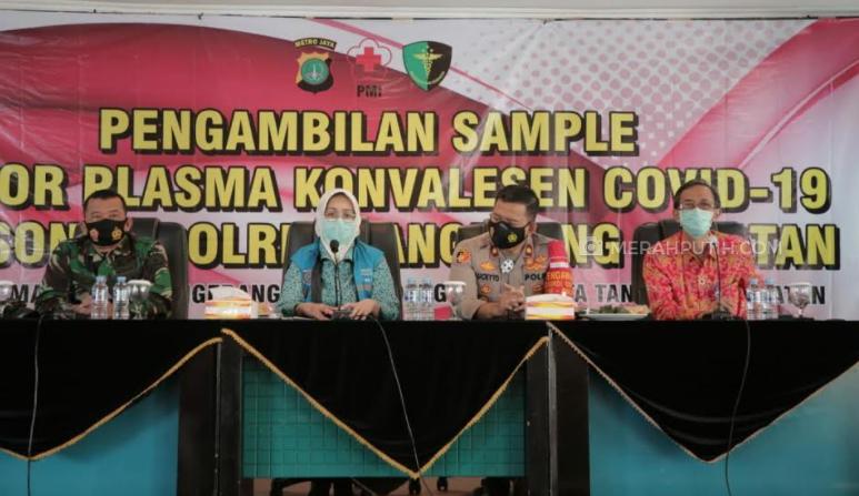 TNI-Polri Penyintas Donor Plasma Darah, Walikota Tangsel Sebut COVID-19 Bukan Aib