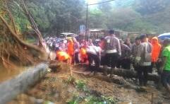 Jalur Utama Cianjur-Bogor Tertutup Longsor