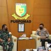 Kadiv Propam Polri Temui Danpuspom TNI AD