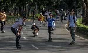 Peringatan Hari Skateboarder Sedunia di Tangerang