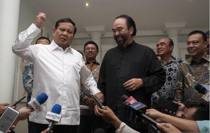 Tiga Kesepakatan Usai Pertemuan Surya Paloh dan Prabowo