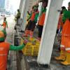 Dinas LH Angkut 398 Ton Sampah dari Aksi Penolakan UU Cipta Kerja