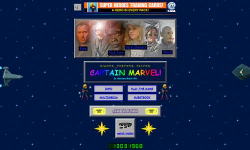 Captain Marvel Tampil Jadul di Situs 90-an