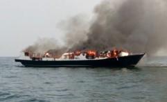 Kapal Pesiar Mewah Terbakar Dipicu Ledakan Tabung Elpiji