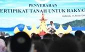 Presiden Jokowi Serahkan 3.500 Sertifikat Untuk Warga Lampung