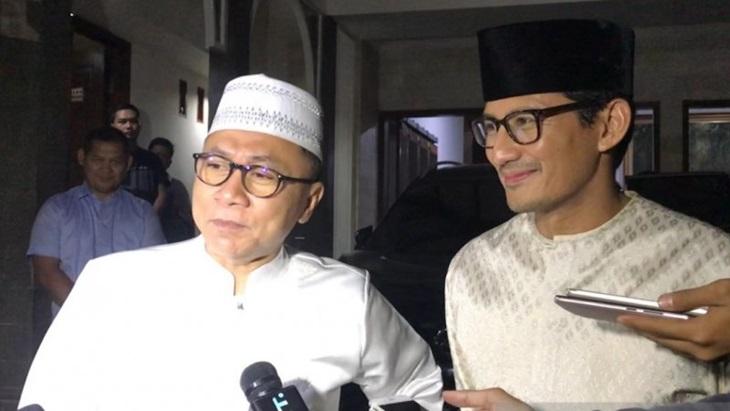 Bertemu Zulkifli Hasan, Sandiaga Uno Bicara Perkembangan Sidang PHPU
