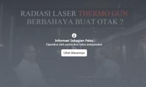 [HOAX atau FAKTA]: Thermometer Gun Merusak Otak