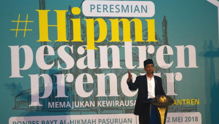 Presiden Jokowi ke Santri Pengusaha Lalapan: Minta Modal Berapa, Nanti Saya Kasih