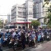 15 Ribu Pendemo Penuhi Kantor Gubernur Jatim