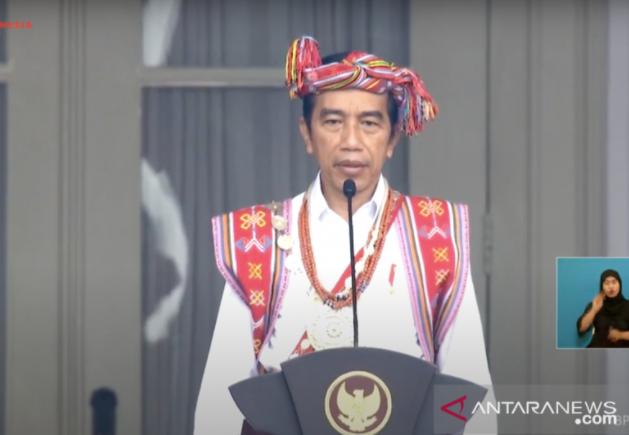 Makna Baju Adat yang Dikenakan Jokowi Saat Jadi Inspektur Upacara HUT RI