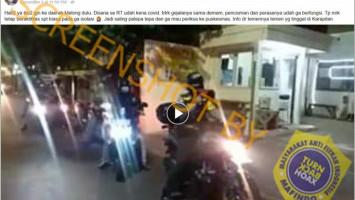[HOAKS atau FAKTA]: Warga Dilarang Lewat Jalan Melong Bandung akibat Satu RT Positif Corona