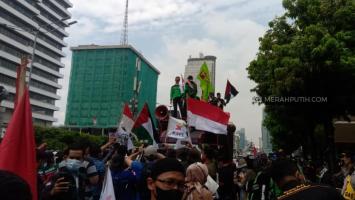 Ribuan Aparat Disiagakan Amankan Aksi Bela Palestina di Kedubes AS hingga Kantor PBB