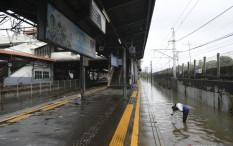 Sejumlah Rel KAI Daop 1 Jakarta Masih Terendam Banjir