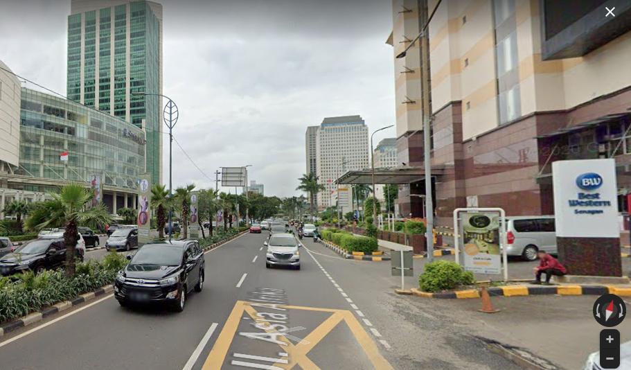 Jalan Asia Afrika Jakarta. (Foto: Tangkapan layar google map)