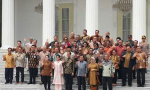 Foto Terakhir Jokowi-JK dan Menteri Kabinet Kerja